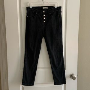 Madewell 4 Button High Rise Slim straight Jeans 29